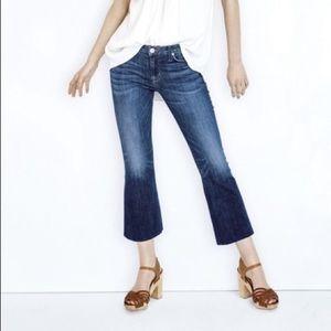 Hudson Cropped Flared Raw Hem Mia Jeans